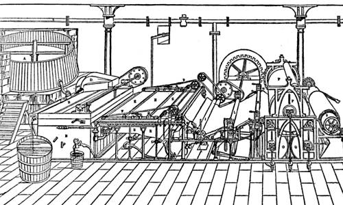 EARLY FOURDRINIER PAPER MACHINE
